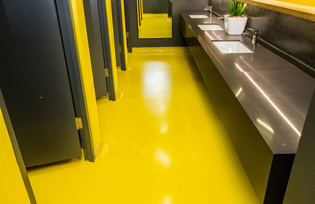 Vibrant Floors Infuse RCL Foods' New Office with Colour
