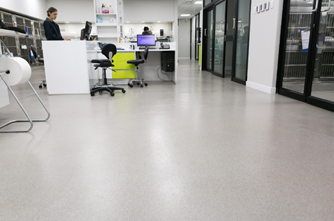 Hygienic Finish for New Build Animal Hospital