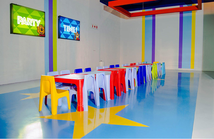 Colourful and creative flooring