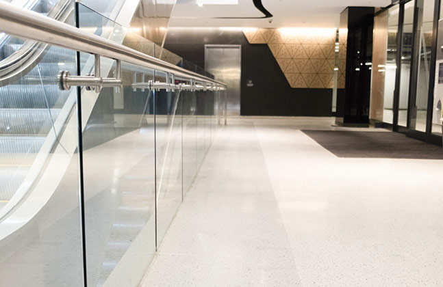 New shopping centre, THE MARC, installs highly decorative terrazzo flooring