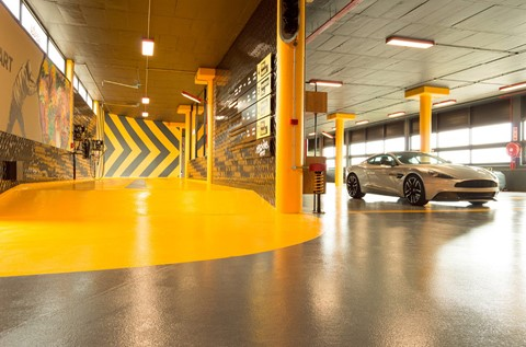 Colourful and Creative Floors Applied at Machine WashWorx