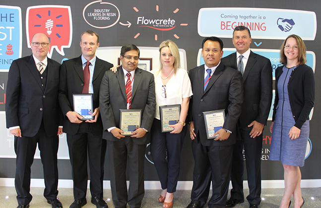RPM President Awards Flowcrete's High-Fliers for Collaborative Value Creation.