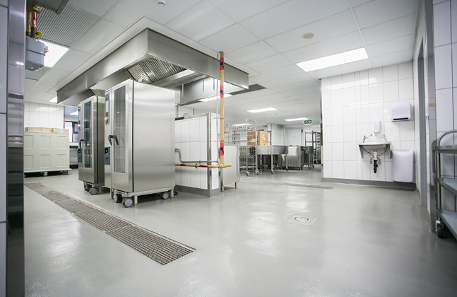 Modern Hospitals Coat Kitchens with Flowfresh Flooring
