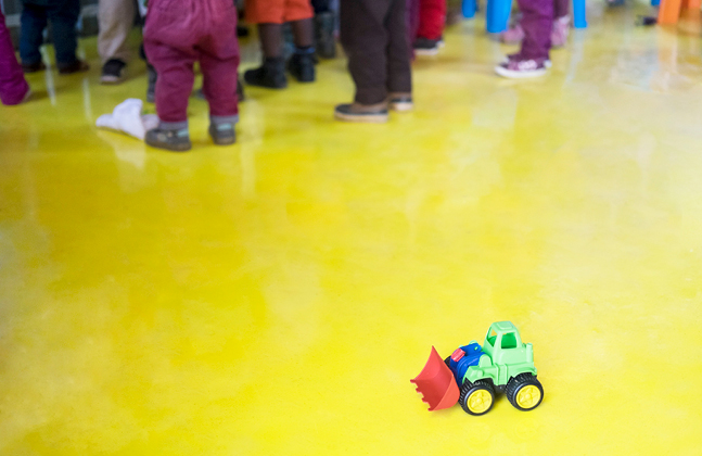 Donated Floor Brings Colour and Cleanliness to Child Centre